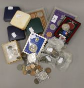 A quantity of miscellaneous coins including Royal Mint proofs, etc.