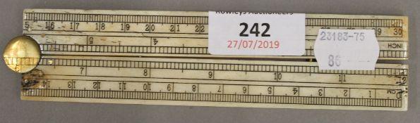 A bone ruler