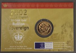 A cased gold full sovereign,