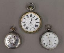 Three pocket watches,