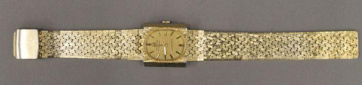 An Omega Seamaster ultra-thin gold plated wristwatch