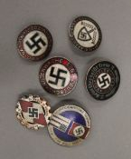 Six reproduction Nazi badges