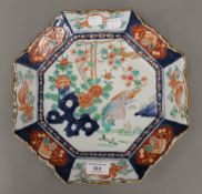 A late 18th century octagonal shaped Japanese Imari charger
