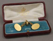 A pair of 18 ct gold cufflinks (12 grammes)