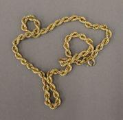 An Italian 9 ct gold necklace by La Bella, Arezzo, import mark for London (7.