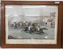 CHARLES HUNT After TURNER, Start for the Derby, and Coming in for the Derby, framed and glazed,