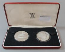 A boxed Malawi proof two silver coin set
