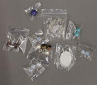 A quantity of costume earrings