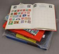 A folder of various coins,