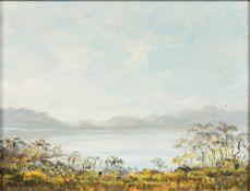 PETER GLADMAN (20th century) Zimbabwean, Extensive Landscape, oil on board,