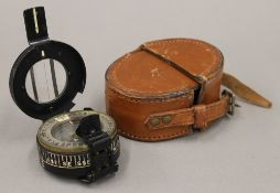 A WWII officer's marching compass by Hilger & Watts Ltd, R.