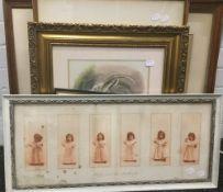 A small quantity of decorative prints,