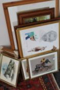 A quantity of pictures and prints,