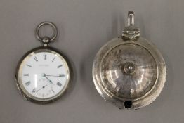 A Victorian silver cased pocket watch by E Routley of Bath and Geneva, Chester 1879,
