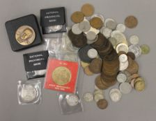 A quantity of coins, Georgian and later, some silver, etc.