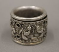 A Chinese silver archer's ring
