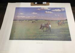 After NEIL CAWTHORN (born 1936) British, The Devil's Dyke, The Rowley Mile, The High Street,