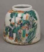 A Chinese porcelain ink pot