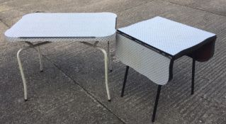 Two vintage mid-20th century kitchen tables
