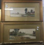 D TREVOR-BRAMSOM (born 1900), River Landscapes, a pair, watercolours, signed, framed and glazed,