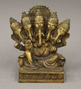 A brass model of Ganesh