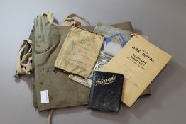 A German U-Boat life jacket inscribed U27, together with other maritime ephemera,