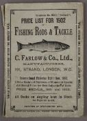 A C Farlow and Co Ltd Price List For 1902 of Fishing Rods and Tackle