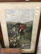 A 19th century Fores's Series print, Gone Away,