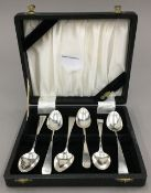 A harlequin set of six early 19th century large teaspoons,