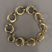 A mid-century silver gilt bracelet (44.