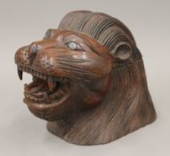 A carved wooden tobacco box,