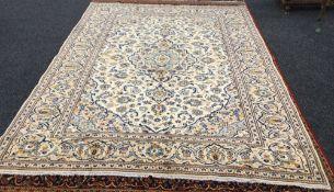 A Kashan wool carpet,