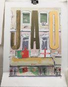 TIM VYNER (20th/21st century) British, JAO, Portugal V England, limited edition print, signed,