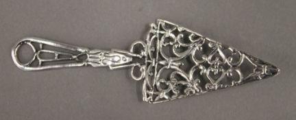 A silver model of a trowel