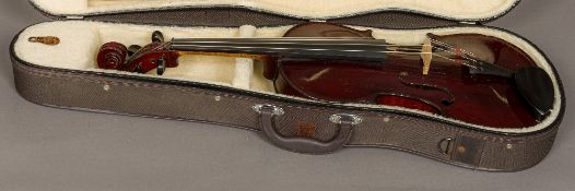 "A late 19th century French viola A label to the interior ""Michel-Ange Garini"","