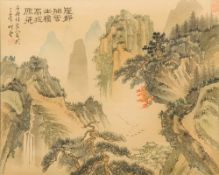CHINESE SCHOOL (20th century) Mountainous Landscapes Watercolours,