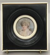 SIR WILLIAM CHARLES ROSS (1794-1860) British Portrait miniature of Lady Colville Watercolour