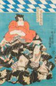 UTAGAWA TOYOKUNI III (1786-1865) Japanese Five woodblock prints All signed within the plates,