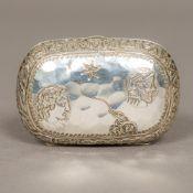 A Victorian silver purse, hallmarked Birmingham 1884,
