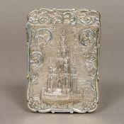 A Victorian silver calling card case, hallmarked Birmingham 1852,