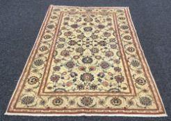 A fine Kashan carpet 2.08 m x 1.35 m.