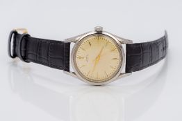 A Girard-Perregaux and Co stainless steel cased gyrometric gentleman's wristwatch The signed ivory