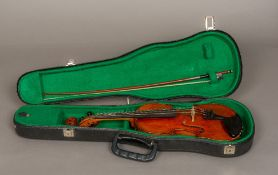 "An early 20th century French 1/2 size violin With label to interior ""Compagnon"","
