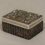 An 18th century Continental pressed tortoiseshell box Of rectangular form,
