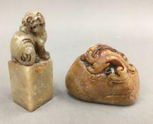 Two soapstone seals
