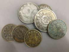 Seven Chinese coins