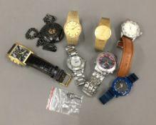 A bag of gentleman's wristwatches