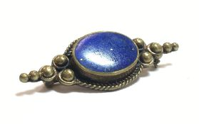 A lapis lazuli brooch