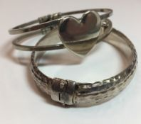 Two silver bracelets (44 grammes total weight)