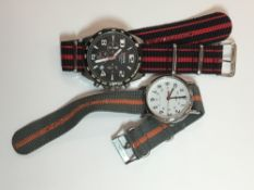 Two gentlemen's wristwatches, chronograph and another,